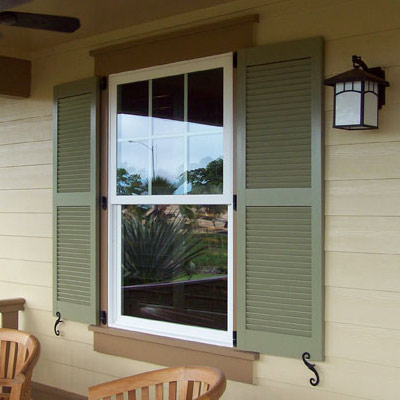 Exterior shutters wood vinyl shutters for Exterior shutters that look like wood